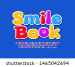 vector colorful sign smile book ... | Shutterstock .eps vector #1465042694