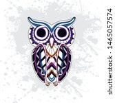 decorative owl from rousing... | Shutterstock .eps vector #1465057574