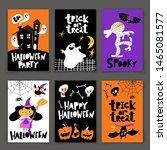 set of cartoon style happy... | Shutterstock .eps vector #1465081577