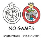 funny vector stick man with a... | Shutterstock .eps vector #1465142984