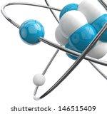 close image of molecule... | Shutterstock . vector #146515409