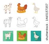 vector design of breeding and... | Shutterstock .eps vector #1465157357