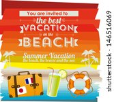invited vacation on the beach... | Shutterstock .eps vector #146516069