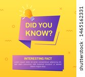 did you know with bulb and... | Shutterstock .eps vector #1465162331