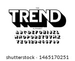 vector of stylized modern font... | Shutterstock .eps vector #1465170251
