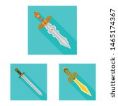 isolated object of and sword... | Shutterstock .eps vector #1465174367