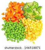 the mixed vegetables on white...   Shutterstock . vector #146518871