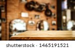 wooden table background and... | Shutterstock . vector #1465191521