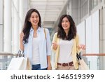 girlfriends enjoy shopping... | Shutterstock . vector #146519399