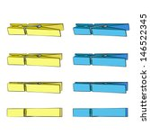 colorful clothespin.  | Shutterstock .eps vector #146522345