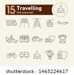 travelling line icon set....