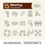 meeting line icon set. team ... | Shutterstock .eps vector #1465224671