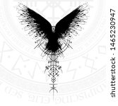 Black Grunge Bird Silhouette...