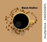 black coffee vector art image   Shutterstock .eps vector #1465243691
