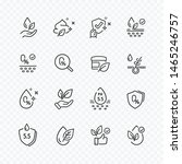 icons set of no artificial ... | Shutterstock .eps vector #1465246757