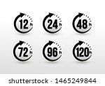 set of 12  24  48  72  96  120... | Shutterstock .eps vector #1465249844
