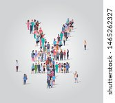 big people crowd gathering in... | Shutterstock .eps vector #1465262327