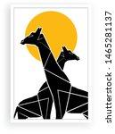 minimalist paint giraffe... | Shutterstock .eps vector #1465281137