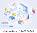 analyze website application... | Shutterstock .eps vector #1465284761