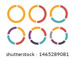 circle arrow for infographic... | Shutterstock .eps vector #1465289081