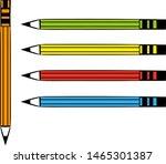 Rainbow Color Pencils Vector...