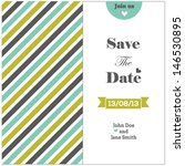 wedding invitation with colored ... | Shutterstock .eps vector #146530895