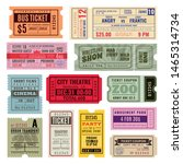 vintage tickets. hand ticket of ... | Shutterstock .eps vector #1465314734