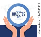 world diabetes day banner with... | Shutterstock .eps vector #1465319411