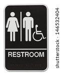 men and women black bathroom...   Shutterstock . vector #146532404