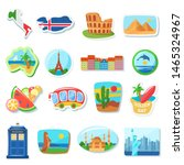 fridge magnets flat vector... | Shutterstock .eps vector #1465324967