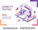 usability testing isometric...