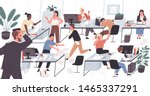 unorganized office with lazy... | Shutterstock .eps vector #1465337291