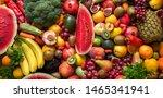 organic foods and fresh... | Shutterstock . vector #1465341941