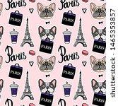 Shopping In Paris Pink Seamless ...