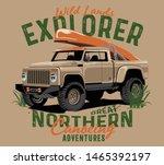 outdoor car and big wheels... | Shutterstock .eps vector #1465392197
