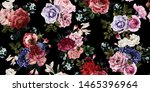 seamless floral pattern with... | Shutterstock . vector #1465396964