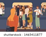 young woman trying to enter... | Shutterstock .eps vector #1465411877