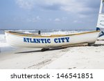 Life Guard Boat On The Beach I...