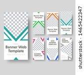 big set of vertical white web... | Shutterstock .eps vector #1465422347