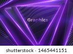 neon glowing light geometric...   Shutterstock .eps vector #1465441151
