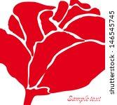 lovely rose flower vector... | Shutterstock .eps vector #146545745
