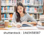 asian young student in casual... | Shutterstock . vector #1465458587