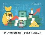 business finance growth concept.... | Shutterstock . vector #1465460624
