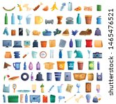 plastic waste icons set....   Shutterstock .eps vector #1465476521