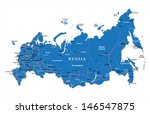 russia map | Shutterstock .eps vector #146547875