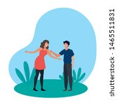 young lovers couple in the...   Shutterstock .eps vector #1465511831