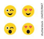 set of emoticons. set of emoji. ...   Shutterstock .eps vector #1465519847