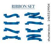 blue ribbons set. vector ribbon ... | Shutterstock .eps vector #1465519904