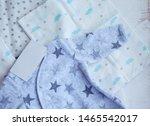 folded cozy fleece baby boy... | Shutterstock . vector #1465542017