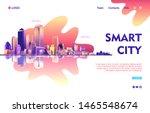 conceptual banner  futuristic... | Shutterstock .eps vector #1465548674